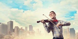 Man violinist Royalty Free Stock Image
