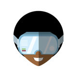 Man virtual reality glasses technology shadow. New  illustration eps 10 Royalty Free Stock Photo