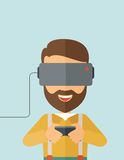 Man with virtual reality headset Royalty Free Stock Images