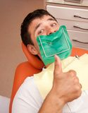 Man visiting dentist Royalty Free Stock Image