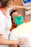 Man visiting dentist Royalty Free Stock Images