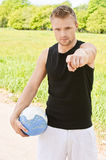 Man with volleyball ball Royalty Free Stock Photos