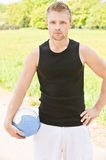 Man with volleyball ball Royalty Free Stock Image