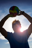 Man with volleyball ball Royalty Free Stock Photo