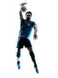 Man volleyball  jumping silhouette Royalty Free Stock Photography