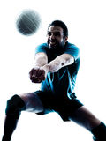 Man volleyball  silhouette Royalty Free Stock Images