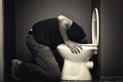 Man vomiting Stock Photos