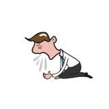 Man vomitting Stock Photo