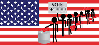 Man voting Royalty Free Stock Photos