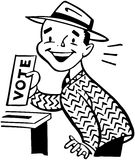 Man Voting Stock Photo