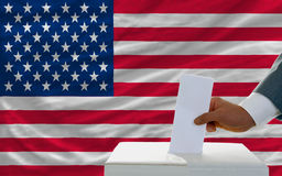 Man voting on elections in america Stock Images
