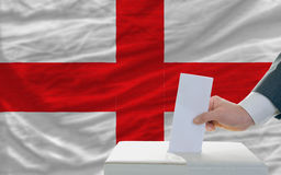 Man voting on elections in england Royalty Free Stock Photos