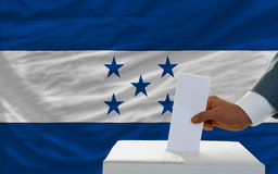 Man voting on elections in honduras Royalty Free Stock Photos
