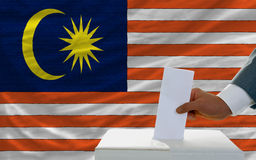 Man voting on elections in malaysia Stock Photography