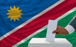 Man voting on elections in namibia Royalty Free Stock Image