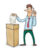 Man are voting in elections Stock Photo