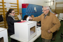 Man voting Stock Images