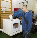 Man voting Stock Photography