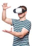 Man in VR glasses Stock Photos