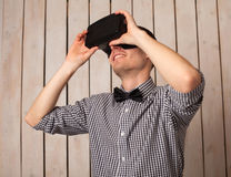 Man in VR glasses Royalty Free Stock Images