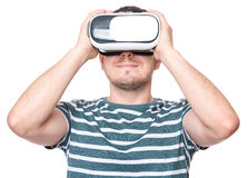 Man in VR glasses Royalty Free Stock Photo
