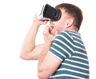 Man with VR glasses Stock Photo