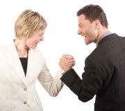 man of vrouw - de concurrentie Stock Afbeeldingen