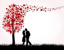 Man, Vrouw en de boom van de Liefde vector illustratie