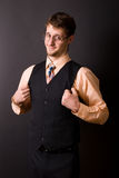 Man in a waistcoat and tie. Young man in a waistcoat and tie Stock Photos