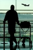 Man waiting at the airport. Man waiting at the international airport terminal Stock Photo