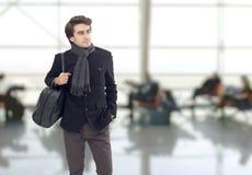 The man waiting at airport Royalty Free Stock Photos