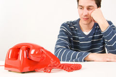 Man waiting for a call Royalty Free Stock Photos