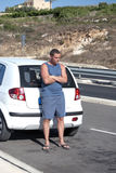 Man waiting by car Royalty Free Stock Photo