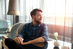 Man waiting for date to arrive Royalty Free Stock Images