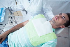 Man waiting for dental exam Stock Photos
