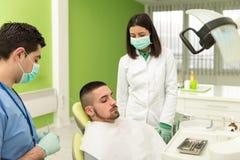 Man Waiting For A Dental Exam Royalty Free Stock Photo