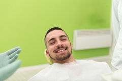 Man Waiting For A Dental Exam Stock Photography