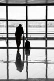 Man waiting for departure of his Stock Photos
