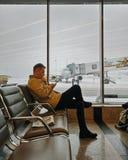 At the airport royalty free stock photos