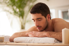 Man Waiting for a Massage Royalty Free Stock Photos