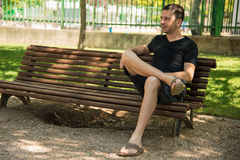 Man waiting Royalty Free Stock Photo