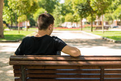 Man waiting Stock Photography