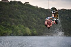 Man on Wake Board during Daytime Royalty Free Stock Photo