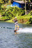 Man Wakeboarding Royalty Free Stock Photos