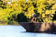 Man Wakeboarding Royalty Free Stock Image