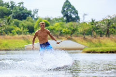 Man Wakeboarding Royalty Free Stock Images