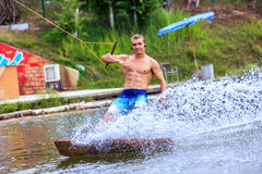 Man Wakeboarding Stock Images