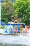Man Wakeboarding. Jumping Stock Photos