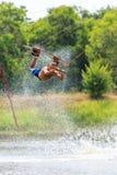 Man Wakeboarding. Jumping Royalty Free Stock Photo
