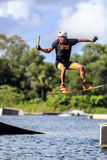 Man Wakeboarding. Jumping Royalty Free Stock Photography
